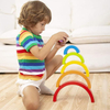 Educational Wooden Rainbow Puzzle Montessori Toys for Kids Toddlers