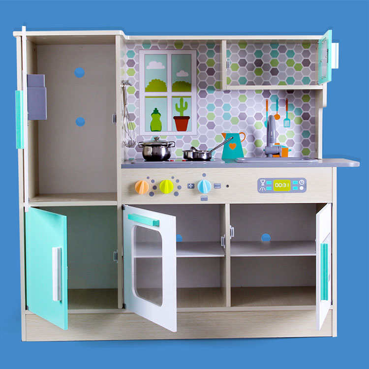 Wooden cooking Children's kitchen Simulation large Play house set toys