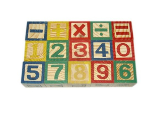 Wooden Number Blocks, Teaching Equipment, Educational Aids