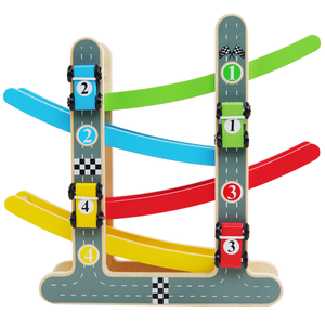 Wooden Train 4-Layer Race Track Toy
