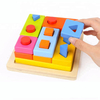 wooden montessori material shape sorter educational toys