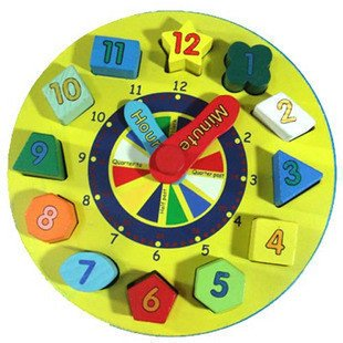Wooden Clock Toys, Wooden Educational Toys