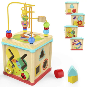 baby wooden activity cube toys