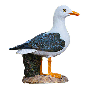 Seagull Model Mediterranean Style Decorative Wooden Crafts