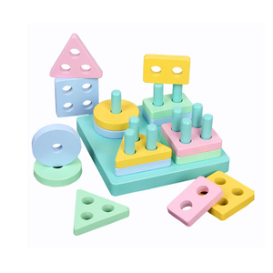 Educational geometric shape matching montessori educational toys