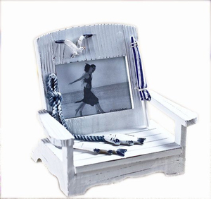 Chair Shaped Photo Frame, Craft Wooden Beach Chair, Craft Wood Cell Phone Holder