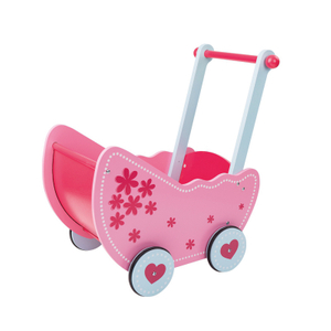 Kids Wooden Doll Toy Pram