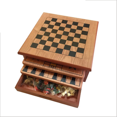 "10 IN 1 15"" Wooden Chess Board Games"