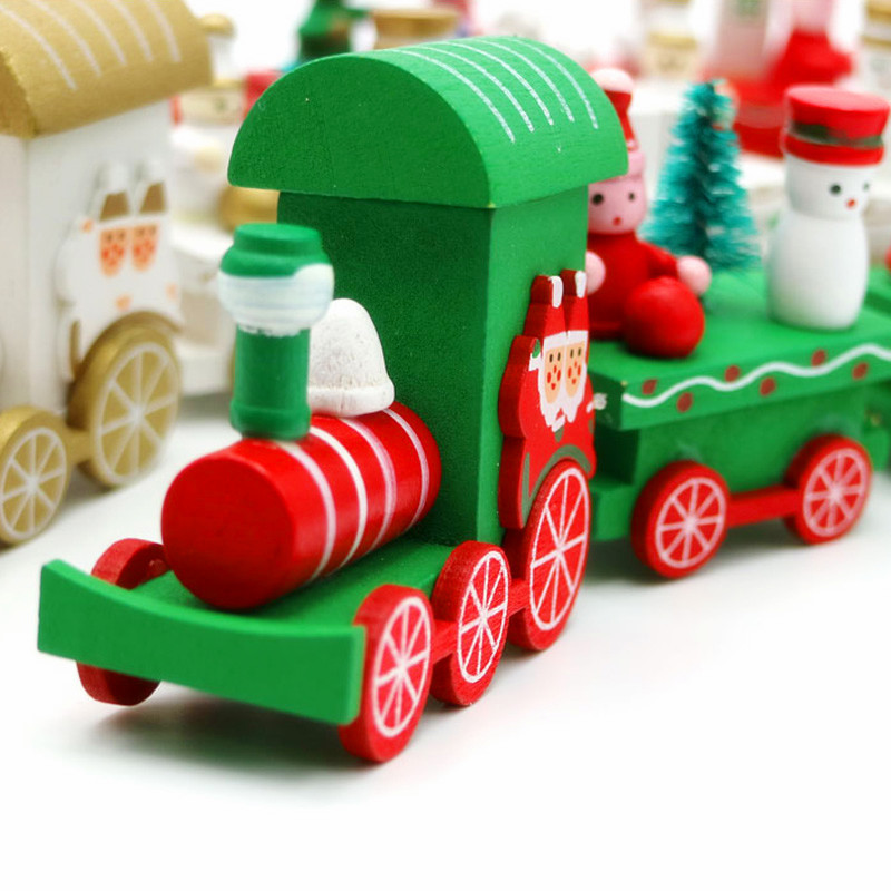 Christmas Wooden Train Set Toy