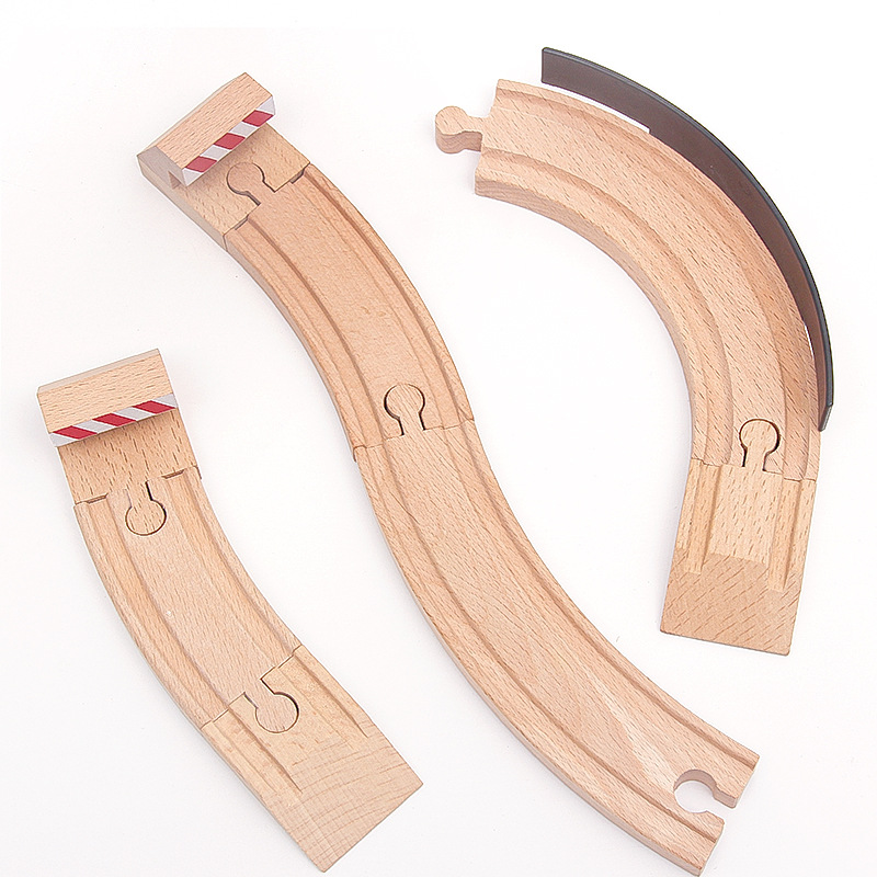 wooden train track pieces for children