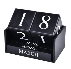 Wooden Desk Blocks Calendar