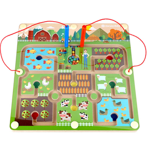 kids Magnetic Farm Labyrinth Toys
