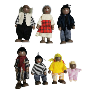 African Wooden Doll Puppet Toys