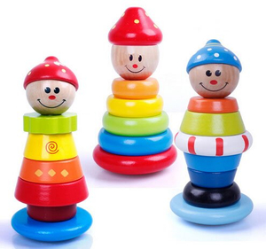 children stacking toys