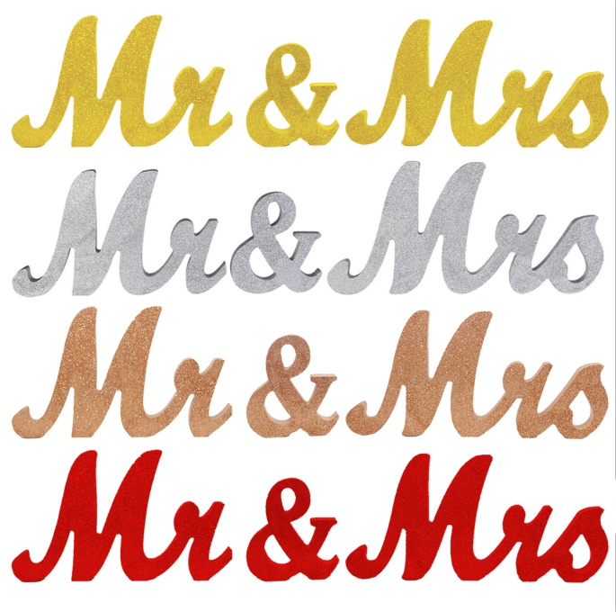 Wedding Decoration Wooden Mr & Mrs Letters