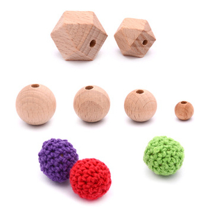 Baby Teething Beech Wooden Beads