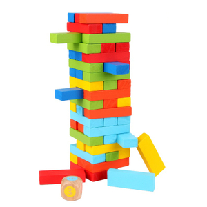 wooden building block game construction toy