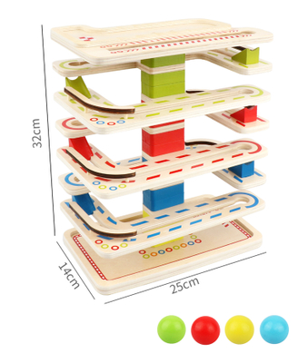 Wooden Running Beads Track Toy