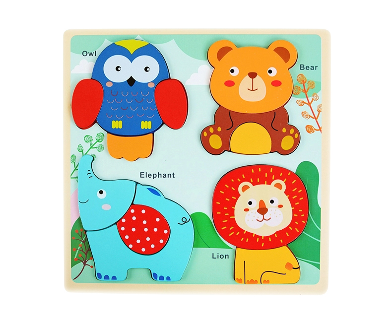 development nail jigsaw toy wooden puzzle