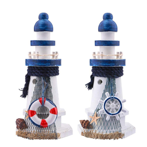 Wooden Lighthouse Decorative Nautical