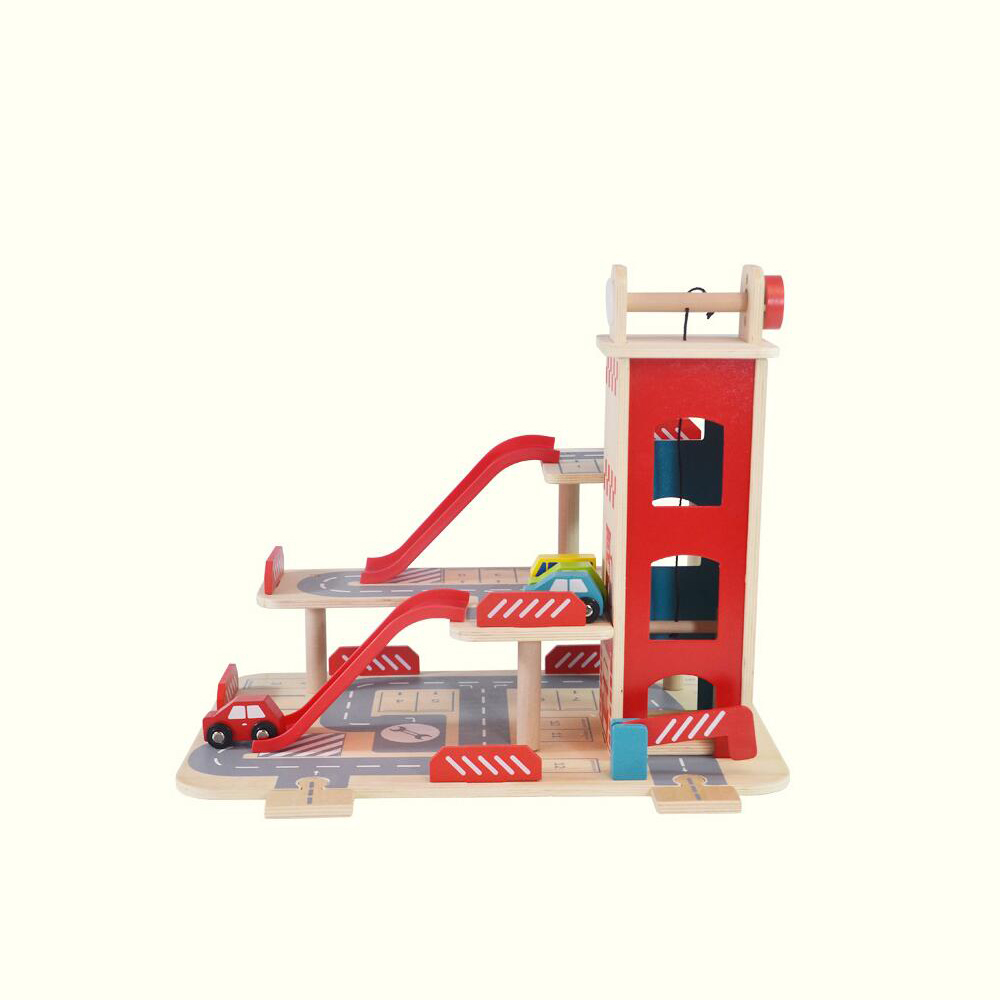 Wholesale kids wooden parking garage