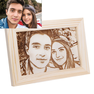 Personalized Engraved Wooden Photo Frame