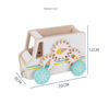 Wooden Ice cream cars Hand Pull Toy