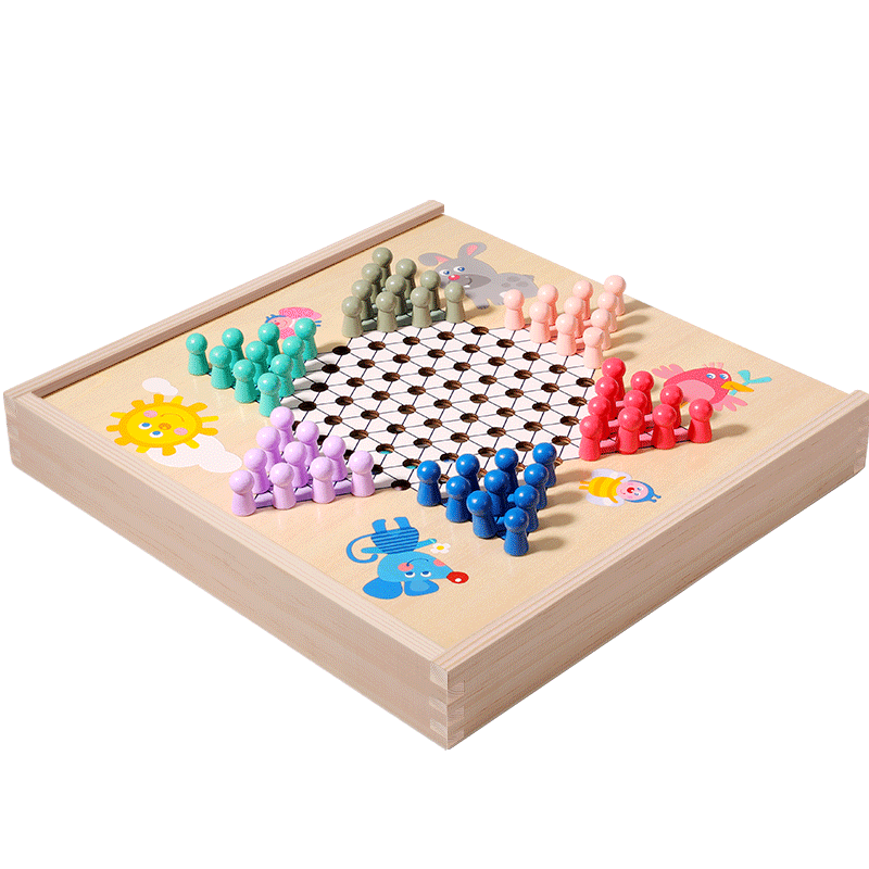 kids wooden activity cube toys