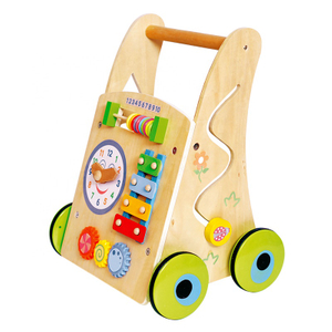 Educational Wooden Baby Walker Toy