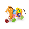 wooden small horse-drawn rope toy