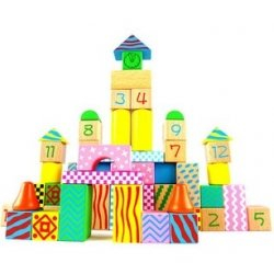 Wooden Building Blocks, Wooden Intellectual & Educational Toys