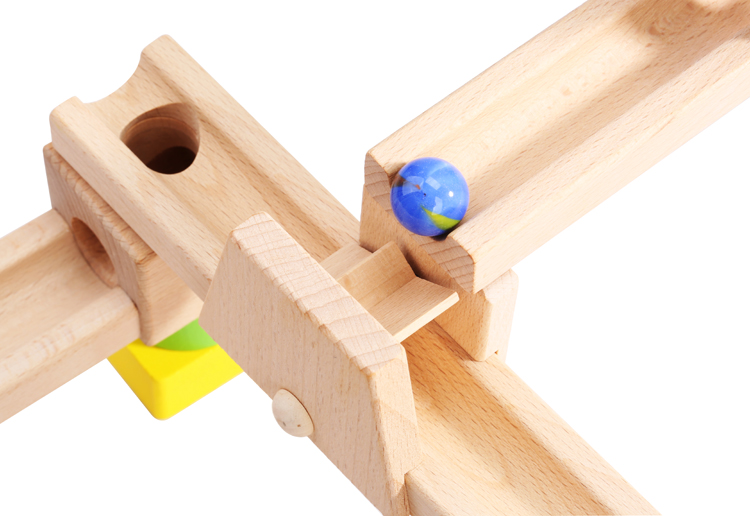Wooden Rolling Marble Run Toys