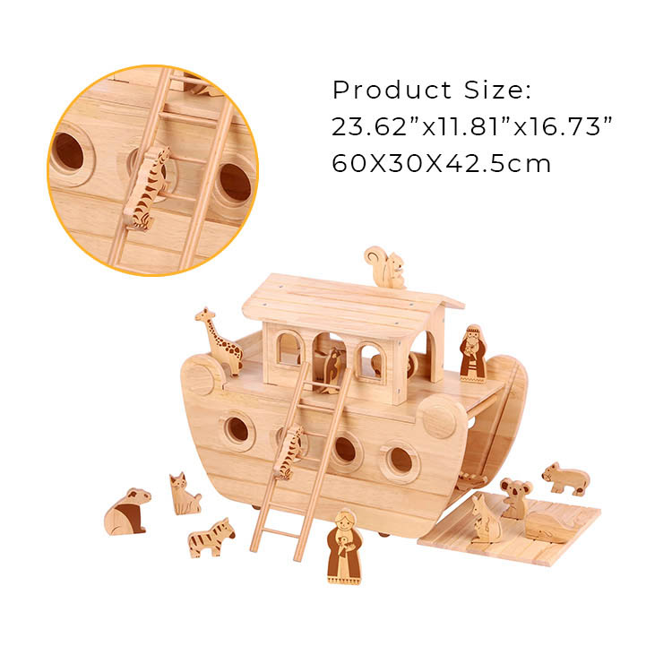 Educational Wooden Noah'S Ark Toy