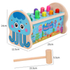 children educational sea animals wooden hammer toy for kids