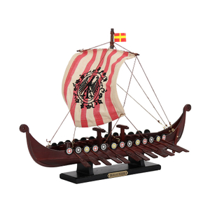 "Wooden ""DRAKKAR OSEBERG"" Viking Ship model"