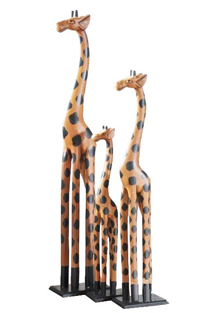 Craft Wooden Giraffe, Decorative Wooden Giraffe