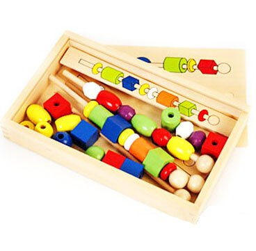 Wooden Jumbo Lacing Beads Toys
