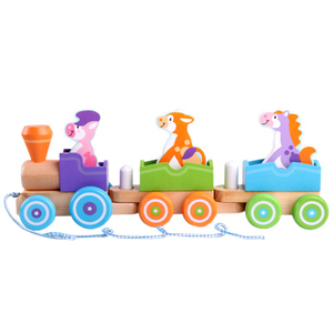 Wooden Rocking Pull Train Toys