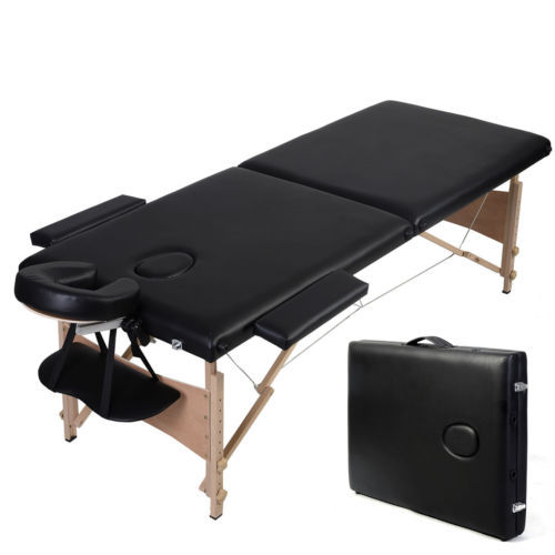 Portable wooden folding original point massage bed