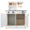 Custom Pretend Role Play White Wooden Kids Kitchen Toy