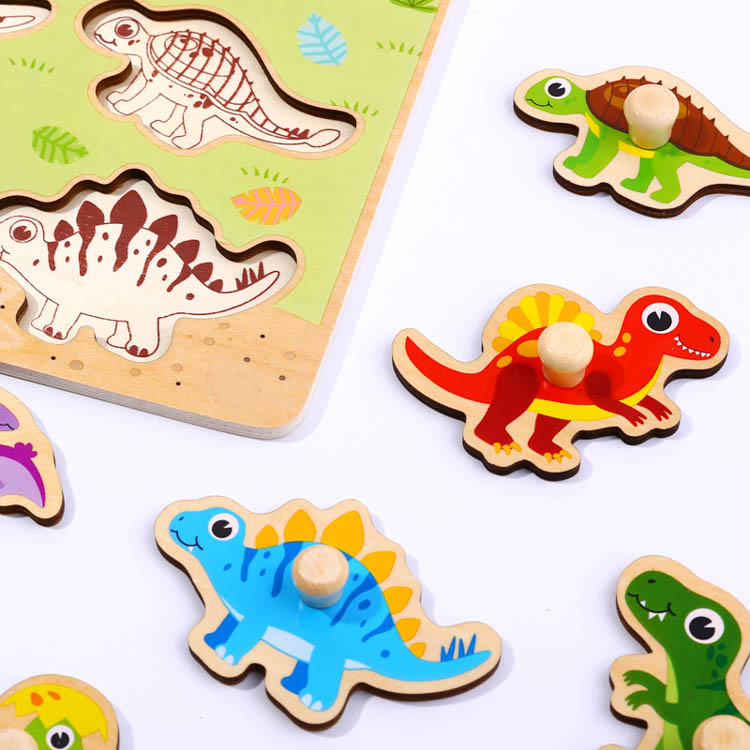 Wooden Play Dinosaur Puzzle