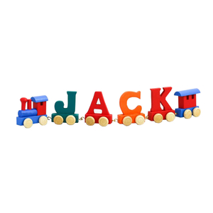 Wooden Name Alphabet Letter Train Toy