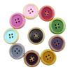 baby clothing wood covered buttons