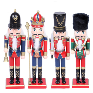 wood christmas decoration nutcracker