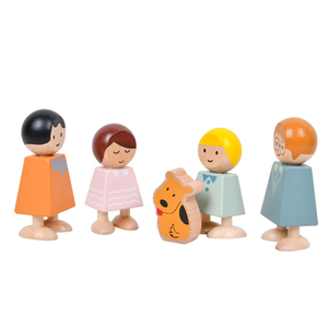 Wooden Happy Doll Family