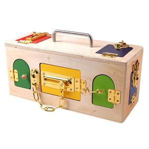 Practical Montessori Materials Wooden Lock Box Toy