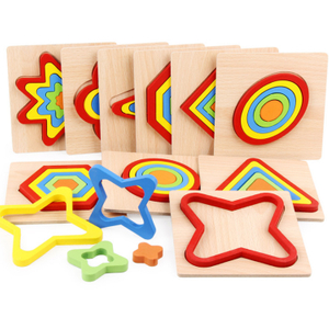 Wooden Geometry Jigsaw Puzzle