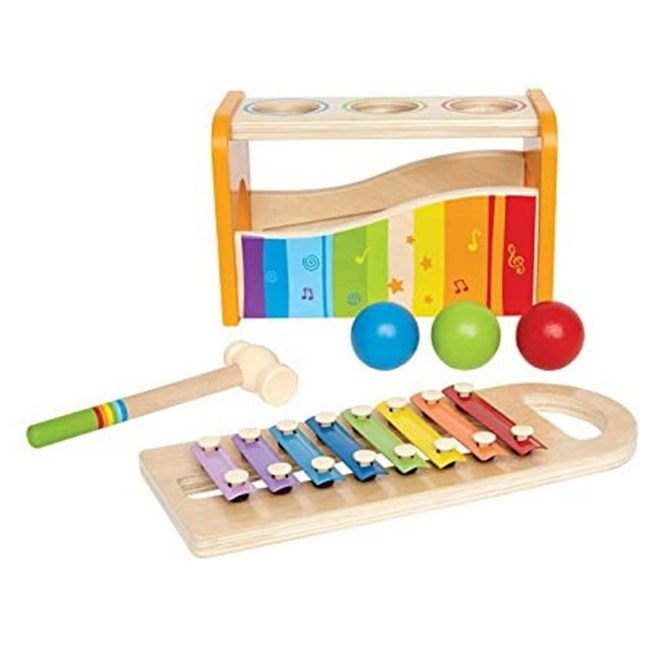 wooden educational DIY activity cube toys