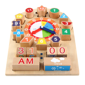 Wooden Digital Clock Building Blocks