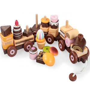 Wooden Cake Train Toys
